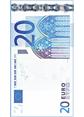 20 Euro Note(Width)