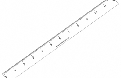Printable Ruler Inches | Work Calendar
